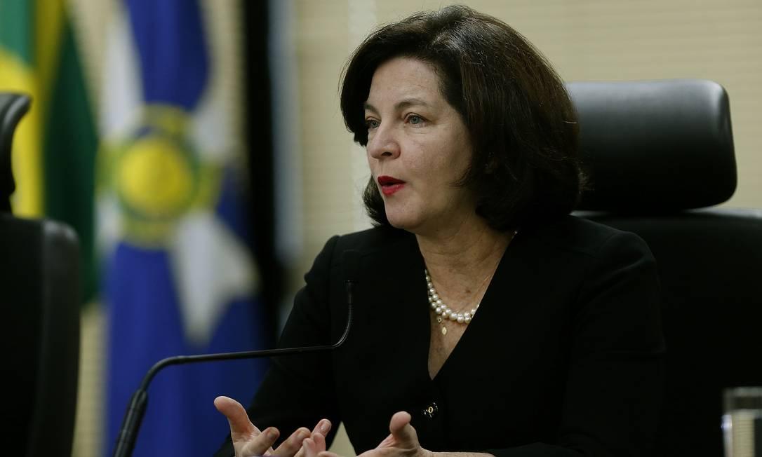 A procuradora-geral da República, Raquel Dodge, mudou sua posição e votou contra a indicação Foto: Jorge William / Agência O Globo