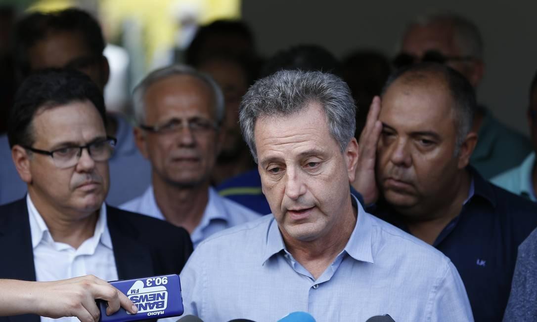 Rodolfo Landim, presidente do Flamengo, em pronunciamento Foto: Pablo Jacob