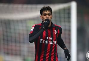 Paquetá emocionou-se em comemoração de gol pelo Milan Foto: Divulgação/Milan
