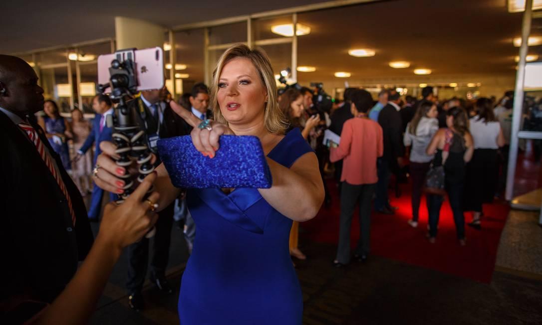 Joice Hasselmann na Câmara, no dia da posse Foto: Daniel Marenco / Agência O Globo