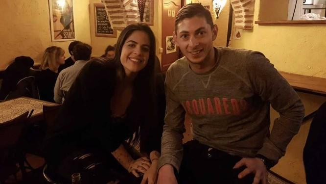 Emiliano Sala e Luiza Ungerer em restaurante Foto: Acervo pessoal