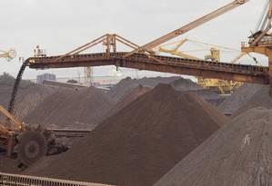 Carregamento de minério de ferro Foto: Arquivo