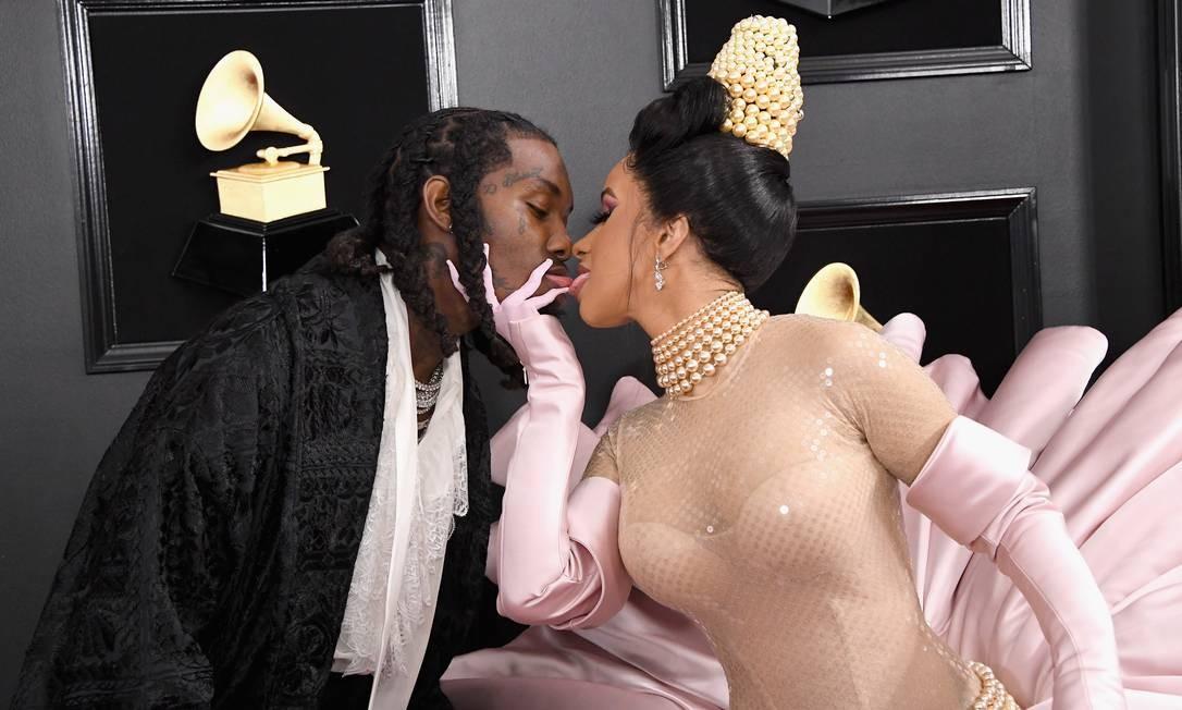 Mais do beijo de Offset e Cardi B Foto: Steve Granitz / WireImage