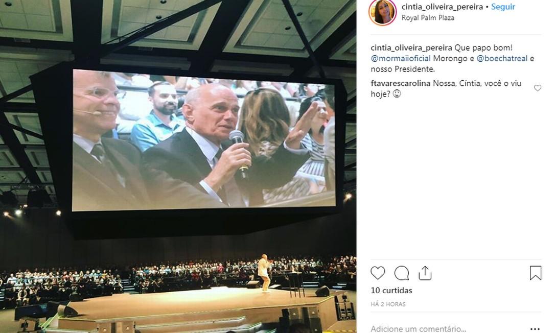 Jornalista Richardo Boechat participou de evento em Campinas Foto: Instagram/Reprodução