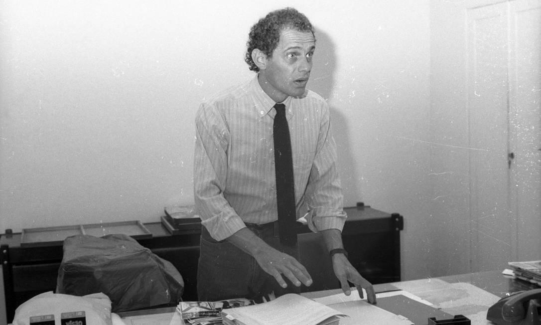 Ricardo Boechat foi secretário de Comunicação Social do Rio de Janeiro em 1987, no governo de Moreira Franco | Foto: Jorge Marinho / Agência O Globo