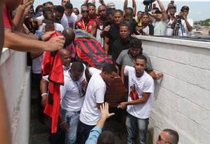 Samuel Thomas Rosa é enterrado nesta segunda-feira Foto: Márcio Alves