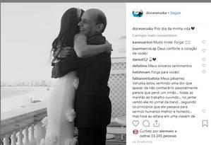 veruska postou em sua conta no Instagram Foto: Reprodução
