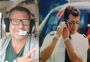 Irmãos morreram em acidente de helicóptero. Ronaldo, à esquerda; e Rogério Foto: Reprodução/Facebook