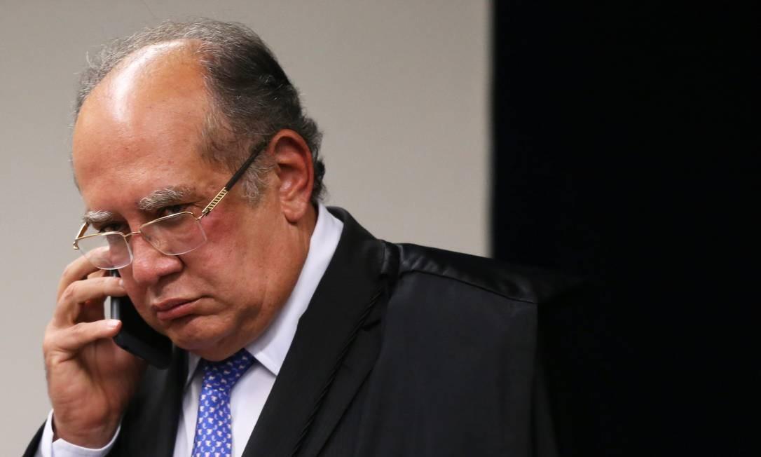 O ministro Gilmar Mendes, durante sessão da Segunda Turma do STF Foto: Ailton de Freitas/Agência O Globo/25-09-2018