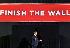 Presidente dos EUA, Donald Trump chega para comício em El Paso, no Texas.