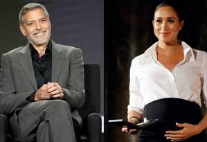 George Clooney e Meghan Markle Foto: Getty e Reuters