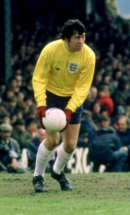 Gordon Banks em jogo da Inglaterra Foto: Action Images / Action Images