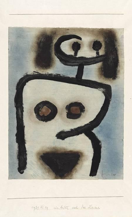 'Um rosto também do corpo' (1939), cola colorida e óleo sobre papel sobre cartão Foto: Divulgação