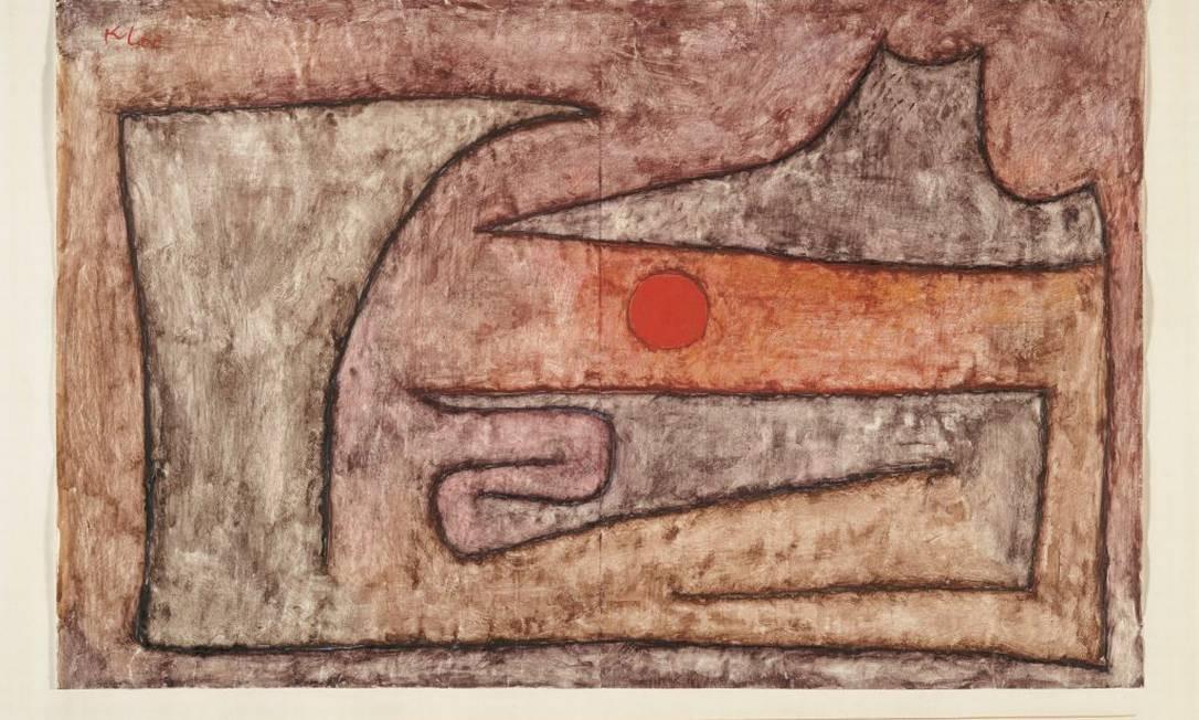 'Olho vermelho' (1939), aquarela sobre papel revestido sobre cartão Foto: Divulgação