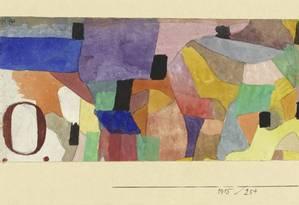 """""""'O' formato largo"""" (1915), aquarela e lápis sobre papel revestido sobre cartão Foto: Divulgação"""