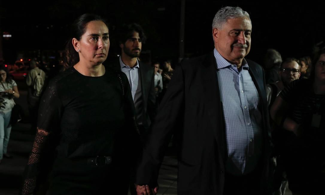 Johnny Saad, presidente do Grupo Bandeirantes de Comunicação, chega ao velório do jornalista Ricardo Boechat, no MIS | Foto: Edilson Dantas / Agência O Globo