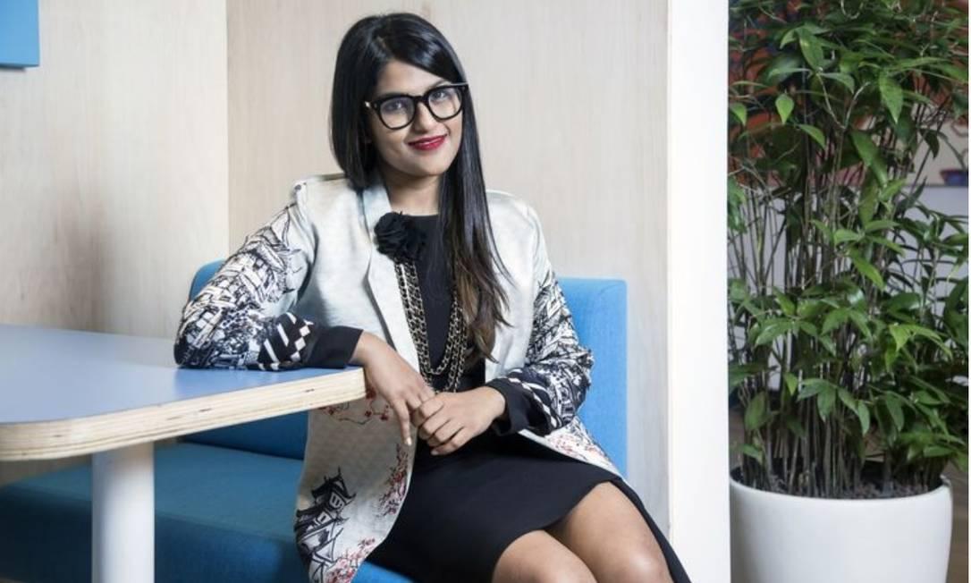 Ankiti Bose percebeu que pequenos comerciantes sofriam com a falta de acesso à tecnologia, capital e economias de escala Foto: Bloomberg