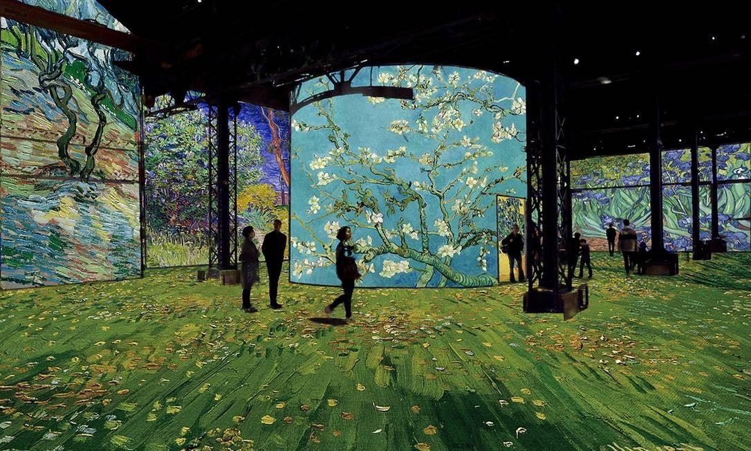 Exposição perceorre toda a produção de Van Gogh, com suas diferentes fases Foto: Reprodução / Agência O GLOBO
