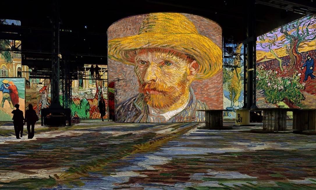 Primeiro centro de arte digital de Paris, espaço terá obras de Van Gogh projetadas em murais de 10 metros de altura Foto: Reprodução / Agência O GLOBO