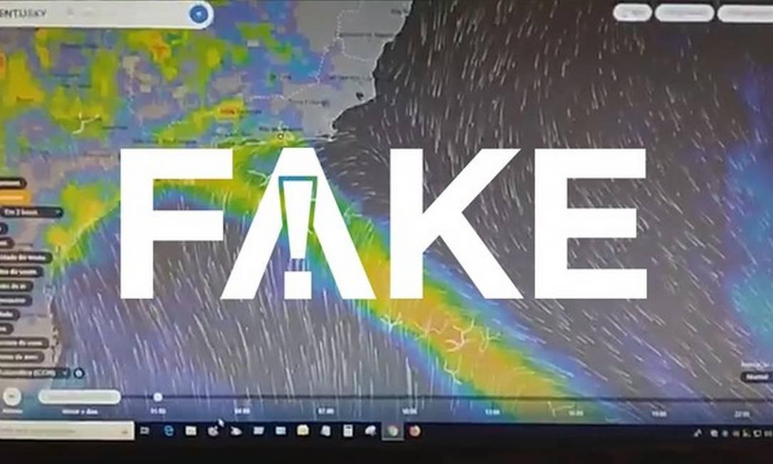Vídeo tem mensagem falsa sobre previsão de chuva Foto: Reprodução