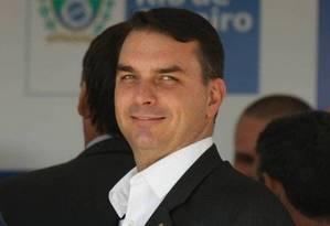 Flávio Bolsonaro, filho do presidente Jair Bolsonaro Foto: Pablo Jacob / Agência O Globo