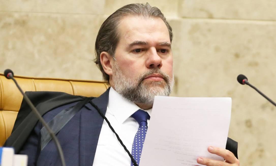 O ministro Dias Toffoli: presidente do STF colocou em pauta duas ações que pedem a criminalização da homofobia e da transfobia Foto: Ailton de Freitas / Agência O Globo