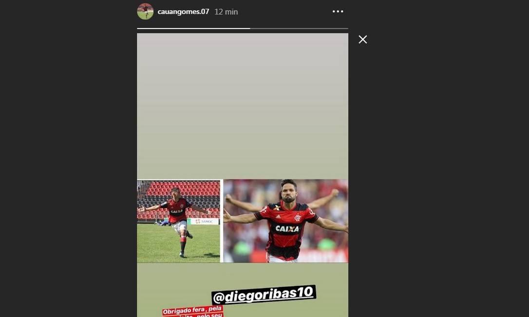 Cauan Gomes publicou mensagem nas redes sociais Foto: Reprodução/Instagram