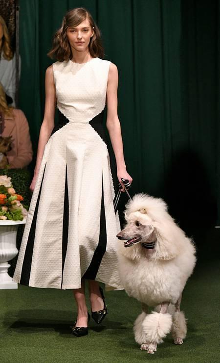 A coleção de outono-inverno 2019 da marca foi chamada de Roseminster Dog Show Foto: Victor VIRGILE / Gamma-Rapho via Getty Images