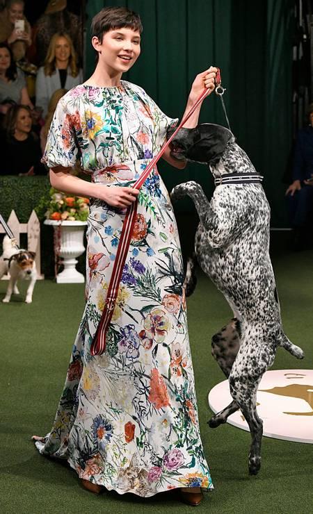 As peripécias dos cachorros modelos Foto: Victor VIRGILE / Gamma-Rapho via Getty Images