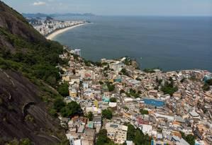 Chuva forte devastou a comunidade do Vidigal, na Zona Sul do Rio Foto: Brenno Carvalho / Agência O Globo