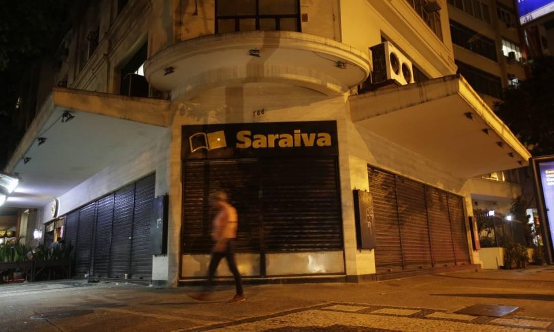 Loja da livraria Saraiva no Rio. Empresa está em recuperação judicial Foto: Alexandre Cassiano / Alexandre Cassiano