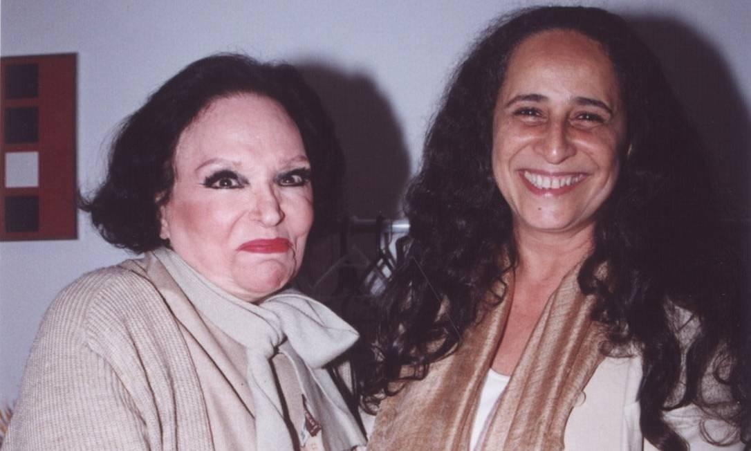 Em 2000, ao lado de Maria Bethânia Foto: J. Osman / Divulgação