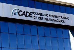 Fachada do prédio do Conselho Administrativo de Defesa Econômica (Cade), em Brasilia. Foto: Ailton de Freitas / Agência O Globo