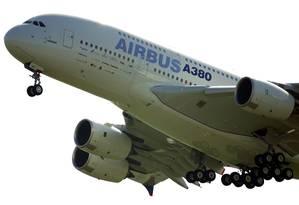 Última unidade do superjumbo A380 será entregue pela Airbus em 2021 Foto: LIONEL BONAVENTURE / AFP