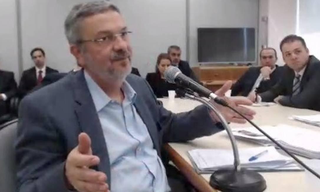 Palocci fez acordo de delação premiada com investigadores da Lava-Jato Foto: Reprodução