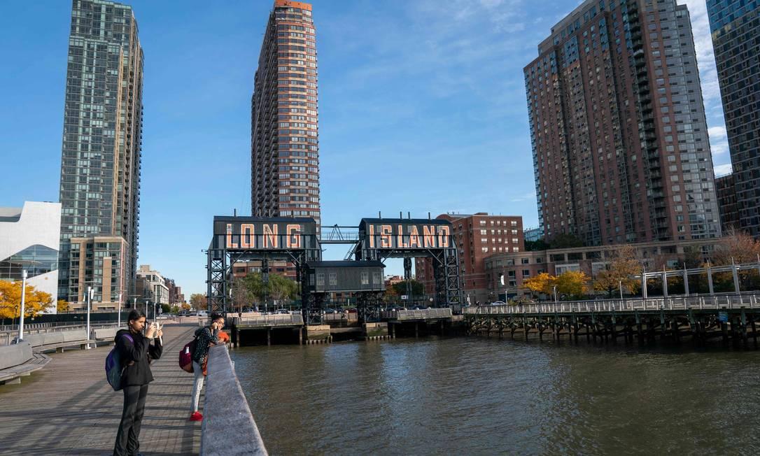 Região no Queens, em Nova York, onde a Amazon esperava construir sua nova sede. Gigante desistiu. Foto: DON EMMERT / AFP