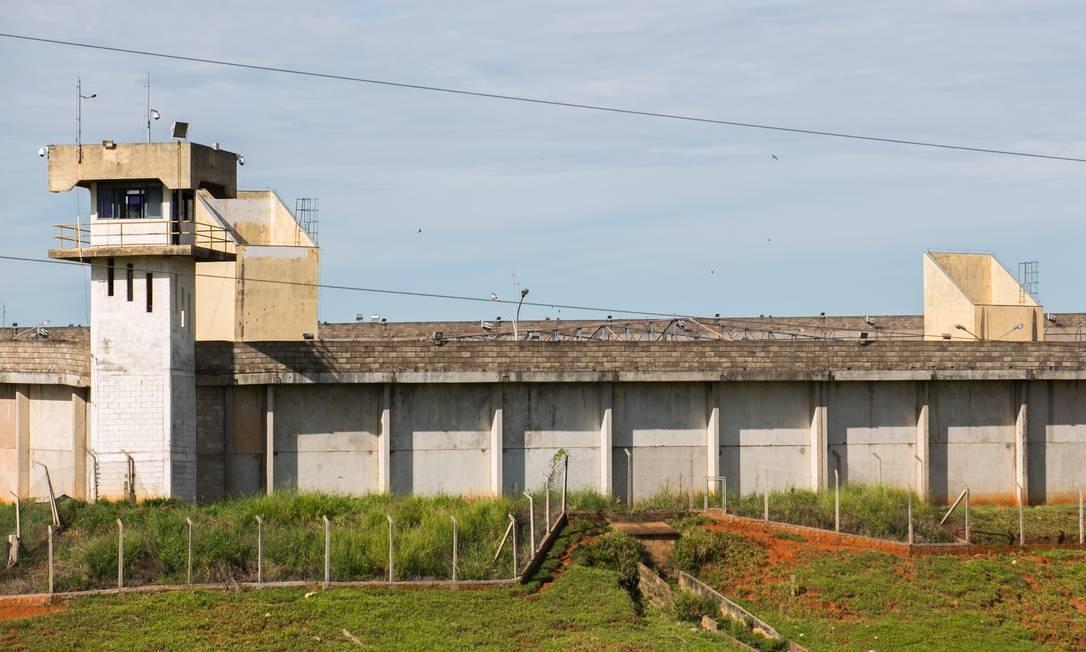 Penitenciária de Presidente Venceslau, no interior de São Paulo, onde estavam os principais líderes do PCC Foto: Edson Lopes Jr / A2 Fotografia/Agência O Globo (31/01/2014)