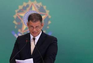 Gustavo Bebianno assumindo o cargo de Secretaria-Geral da Presidência, em 02/01/2019 Foto: Pablo Jacob / Agência O Globo