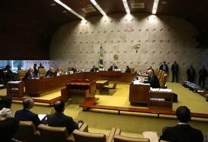 Sessão foi marcada a pedido OAB para a entrega de um manifesto da sociedade civil Foto: Jorge William / Agência O Globo