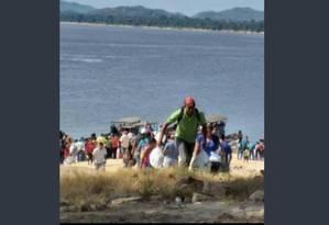 Ajuda humanitária chega por rio ao estado venezuelano do Amazonas com a ajuda dos índios Foto: Reprodução do Twitter