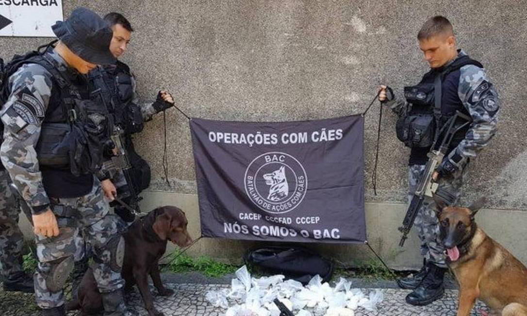 Material que o BAC diz ter apreendido no Fallet Foto: Divulgação