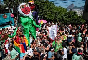 Bloco das Carmelitas desfila na sexta-feira de carnaval Foto: Marcelo Theobald / Agência O Globo
