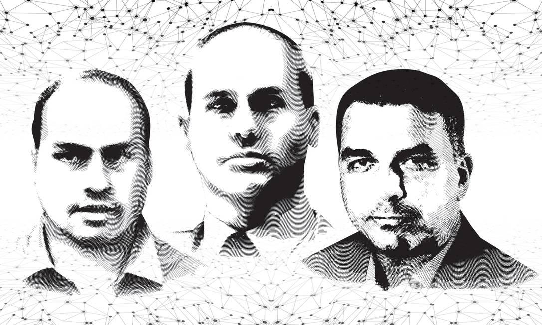 Bolsonaros: Polêmicas em família Foto: Reprodução