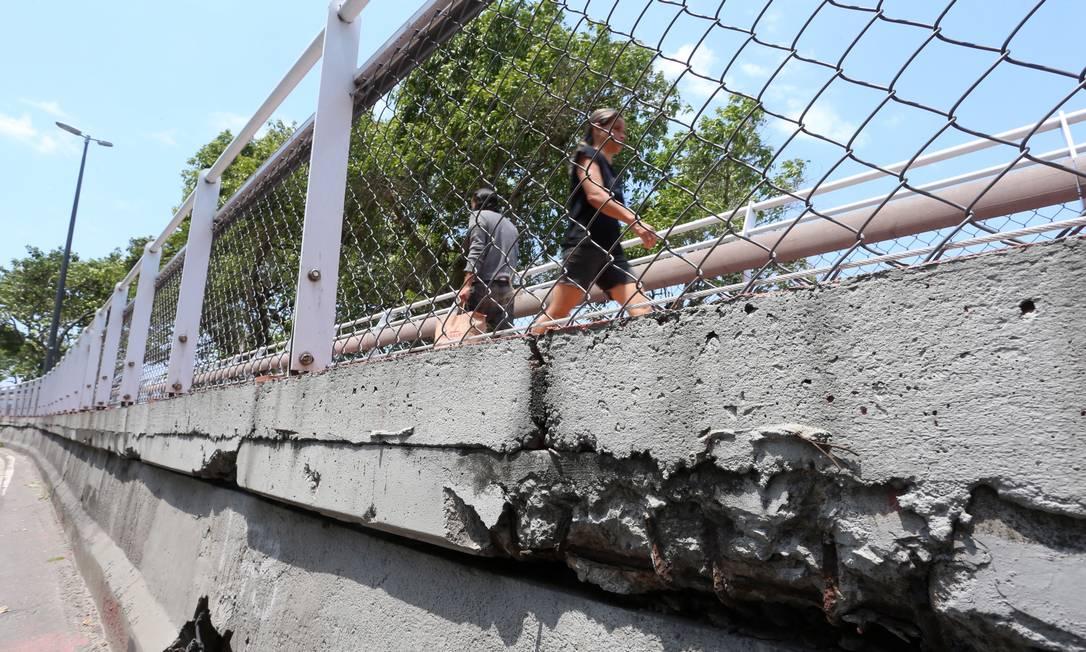Em outubro de 2017, o Ministério Público condenou as obras na Ciclovia Tim Maia Foto: Fabiano Rocha / Agência O Globo