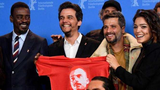 Resultado de imagem para Seu Jorge, Wagner Moura e Bruno Gagliasso na coletiva de imprensa em Berlim