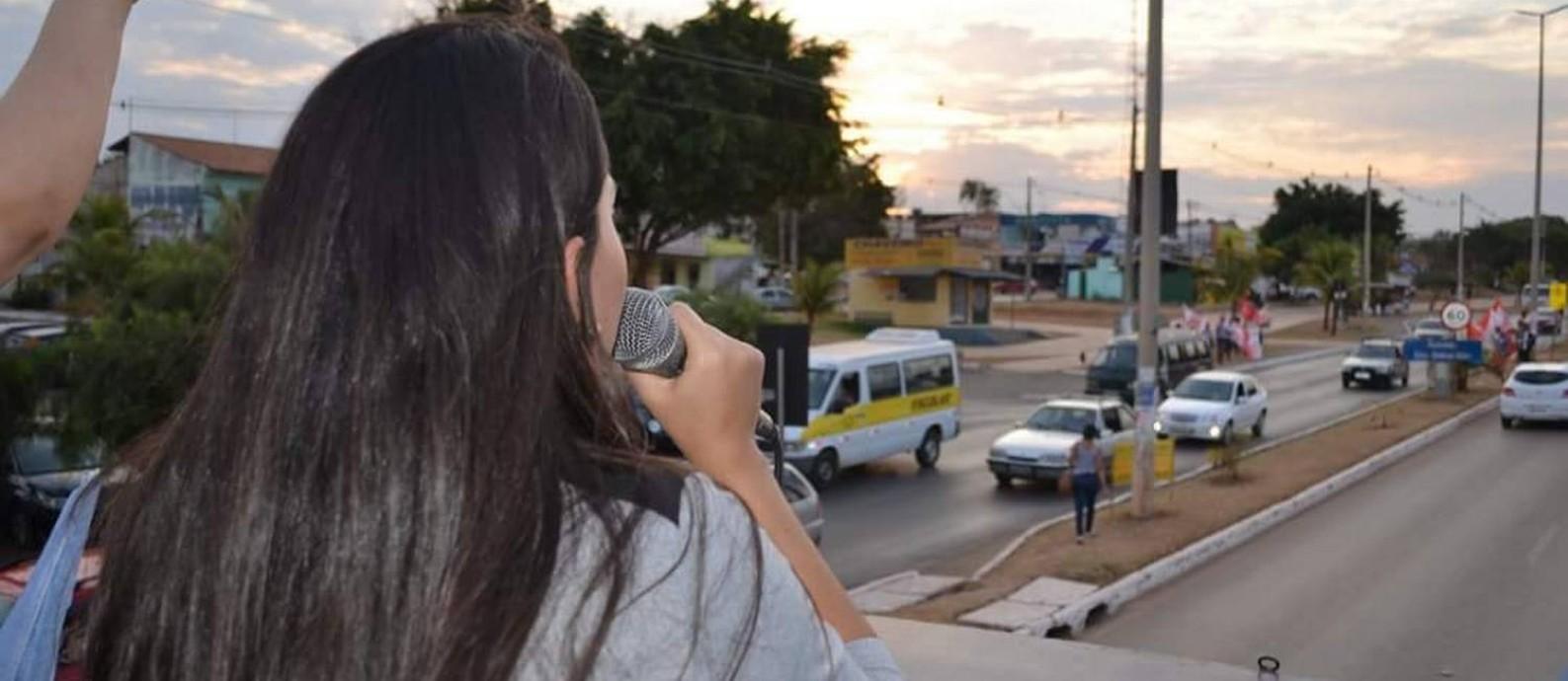 A candidata a deputada distrital Kadija: cabos eleitorais em sua prestação não a conhecem Foto: Reprodução/Facebook
