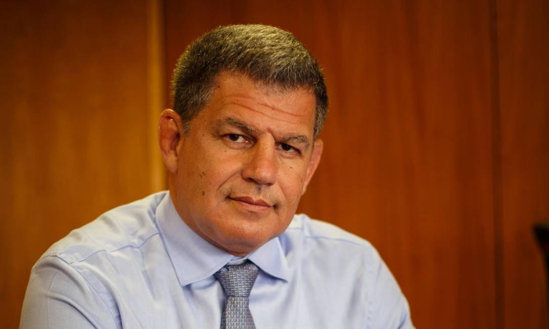 O ministro da Secretaria-Geral da Presidencia, Gustavo Bebianno, durante entrevista Foto: Daniel Marenco/Agência O Globo/05-02-2019