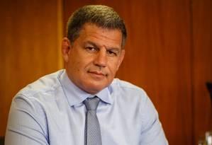 O ex-ministro da Secretaria-Geral da Presidencia, Gustavo Bebianno, durante entrevista Foto: Daniel Marenco/Agência O Globo/05-02-2019