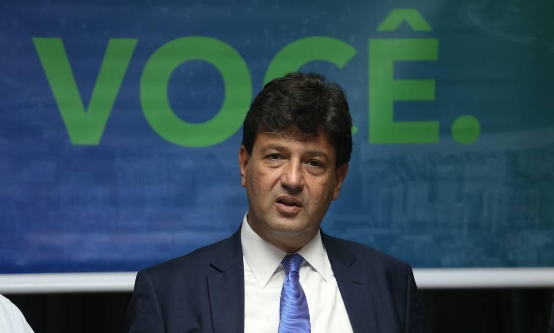 O ministro da Saúde, Luiz Henrique Mandetta Foto: Pedro Teixeira/Agência O Globo