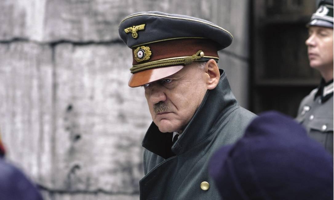 Bruno Ganz como o ditador nazista em 'A Queda - As últimas horas de Hitler' Foto: Divulgação